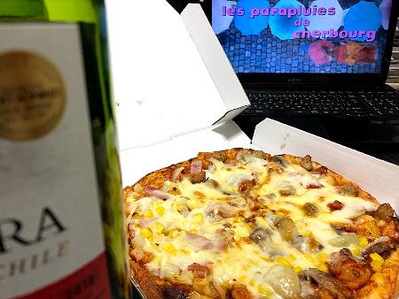 シェルブールの雨傘と宅配ピザ