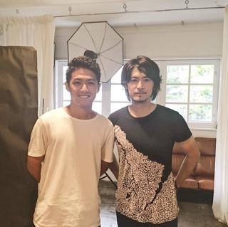 TVガイドPERSONにて撮影した川島フロンターレの大島僚太選手と荒木勇人の2ショット写真