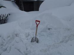 雪かき始め!!
