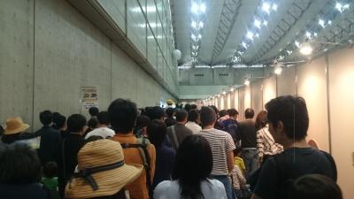 プラレール博2017の入場ゲート後の混雑