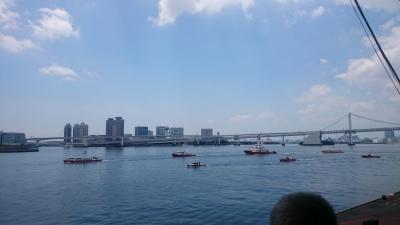 晴海埠頭みなと祭消防艇の隊列画像