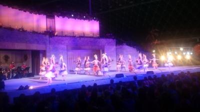 ハワイアンズのフラダンスショーの画像