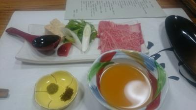 鬼怒川絆の夕食栃木牛のしゃぶしゃぶの画像