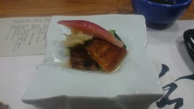 鬼怒川絆の夕食うなぎの酢の物の画像