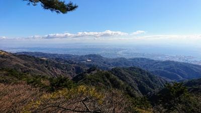 六甲山山頂からみた大阪方面
