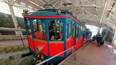 六甲山のケーブルカー