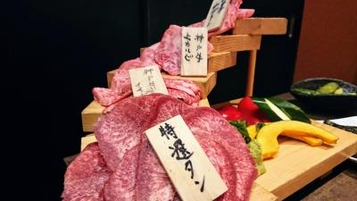大井町の神戸びいどろの肉階段