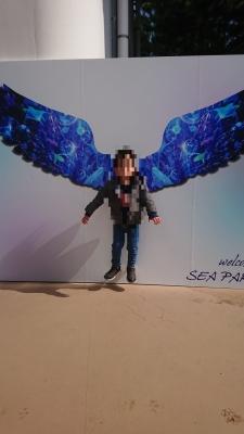 八景島シーパラダイスで空飛ぶ子供