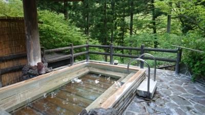 那須にある板室別邸の露天風呂の画像