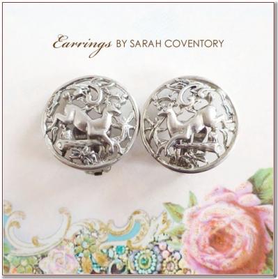 シカのヴィンテージイヤリング SARAH COVENTORY(サラコベントリー)