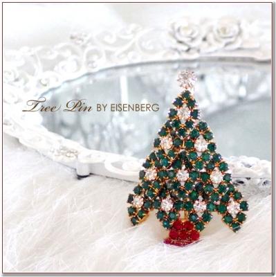 クリスマスツリーのブローチ 2 EISENBERG(アイゼンバーグ)
