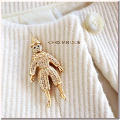 ピエロのビンテージブローチ Cristian Dior(クリスチャンディオール)