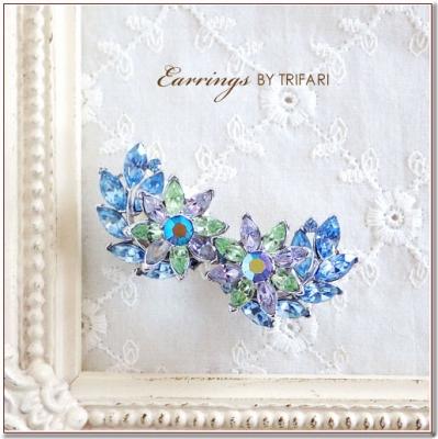 フラワービンテージイヤリング  TRIFARI(トリファリ)
