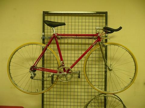 三浦さんの自転車が組み上がりました。