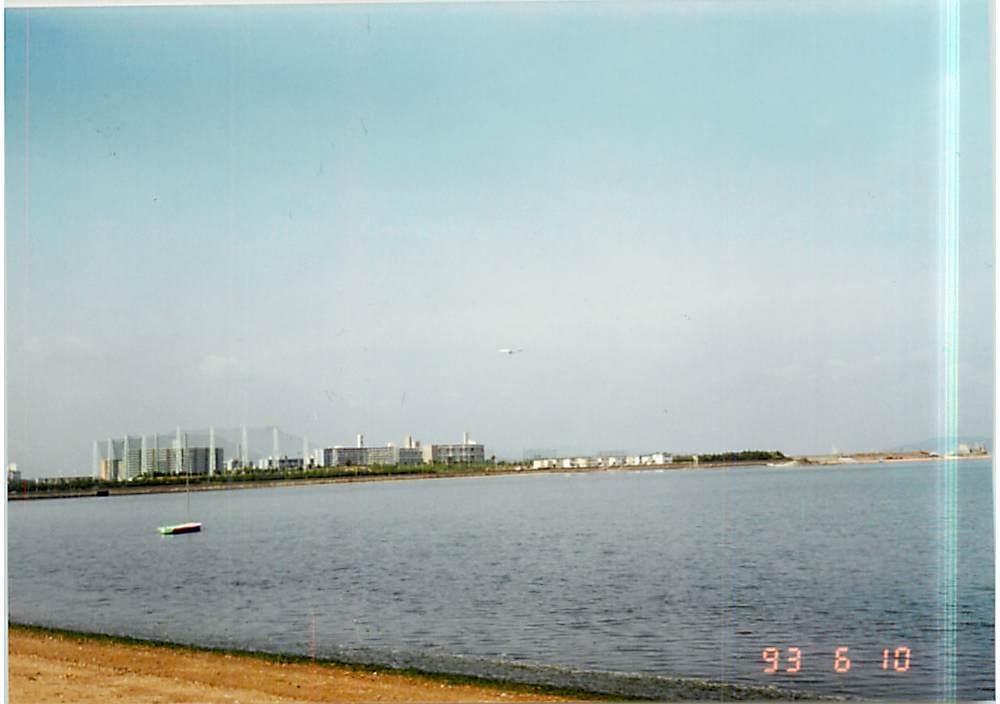 1993年6月10日香椎花園裏の海岸からの眺め