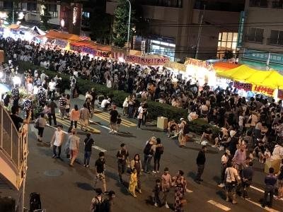 入谷朝顔市の混雑