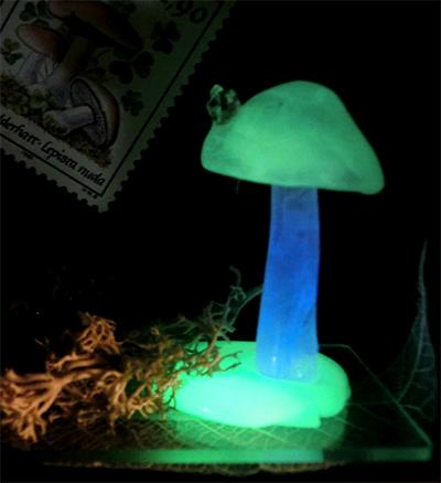 光るキノコ標本 I