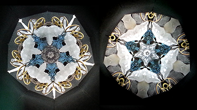 万華鏡オブジェクト/氷と金属