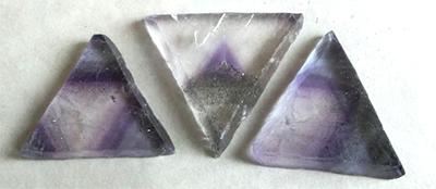 蛍石の八面体劈開割/鉱物レシピ060