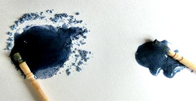 岩絵の具とレジン/きらら舎