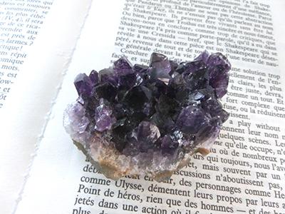 紫水晶加熱実験/きらら舎鉱物レシピ