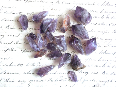 紫水晶の加熱実験/きらら舎
