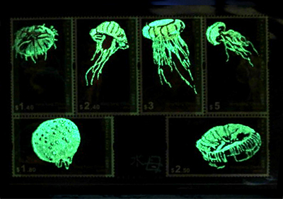 光る水母切手シート/きらら舎