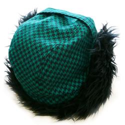 ファー付き 冬の耳あて帽