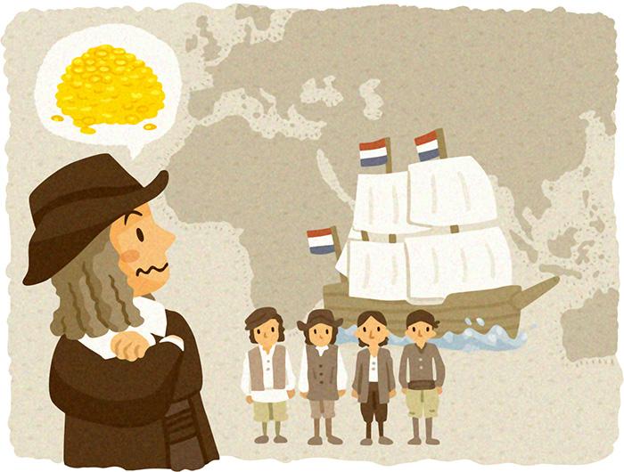 オランダ船,投資,イラスト