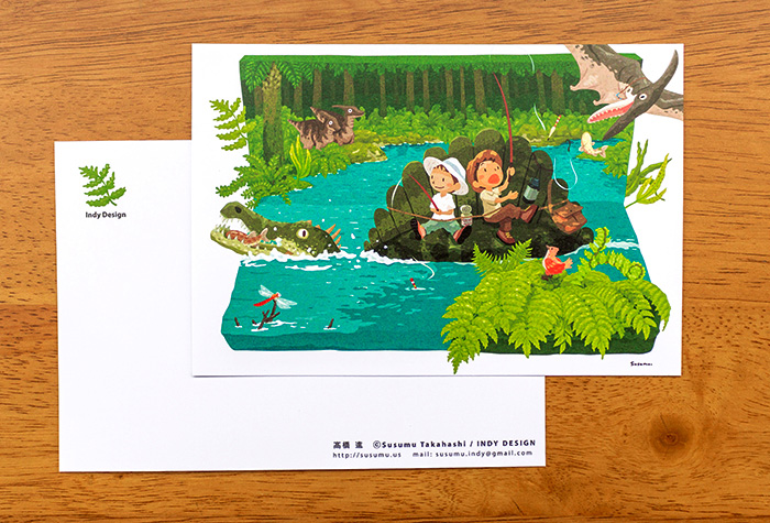 恐竜のポストカード