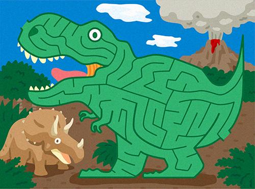 迷路イラスト、恐竜