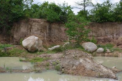 石を拾った場所