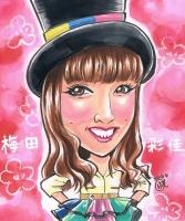 NMB48梅田彩佳 似顔絵