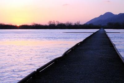 見どころ!島根県 斐伊川に架かる沈下橋