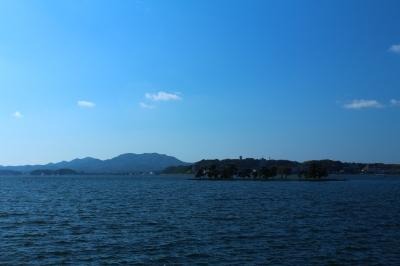 湖の青と宍道湖の青が幻想的