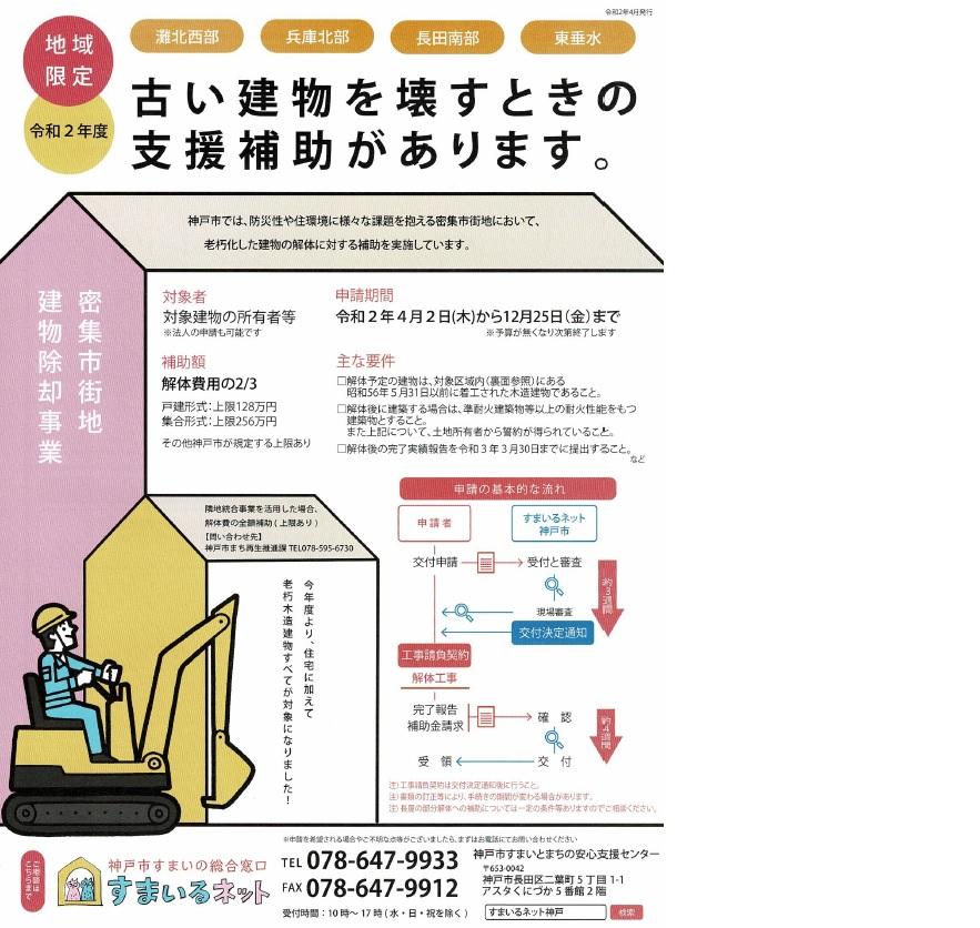 神戸市解体費用補助金
