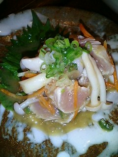 鶏タタキわさび和え¥380