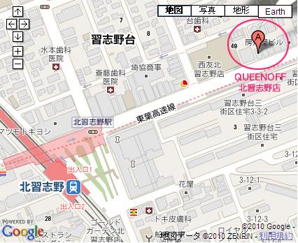 QUEENOFF北習志野店-地図