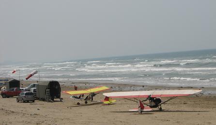 砂浜に飛行機集結!