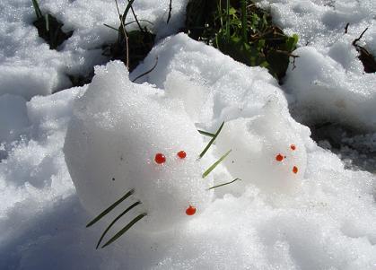 """2008の干支""""雪ねずみ"""""""