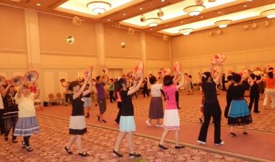 花笠踊り講習