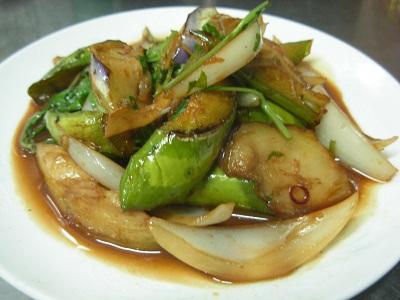 青茄子と台湾バジル