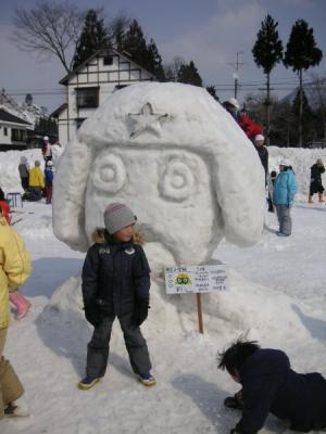 只見ふるさとの雪まつり 雪像1