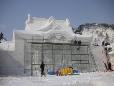メイン雪像の様子