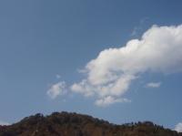 青空と雲と…秋晴れ