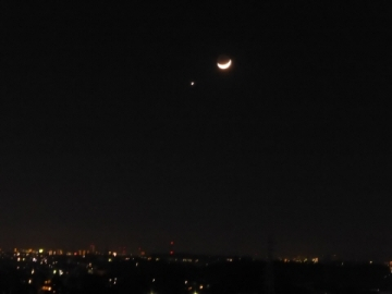 月と金星 広角
