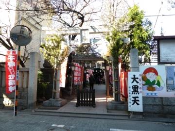 千住本氷川神社入口