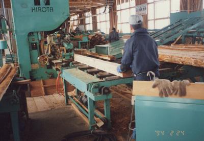 製材工場の様子