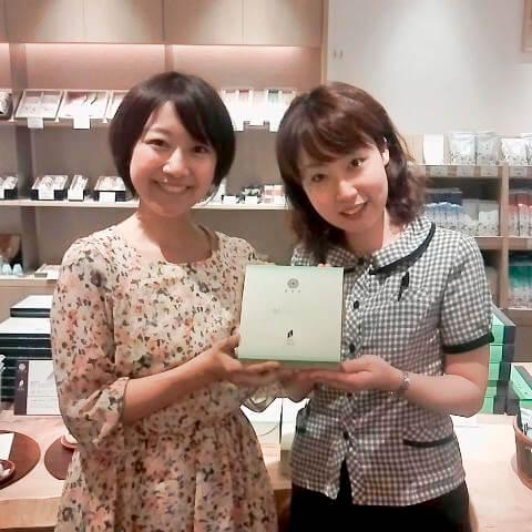 抹茶バウムクーヘンの取材.jpg