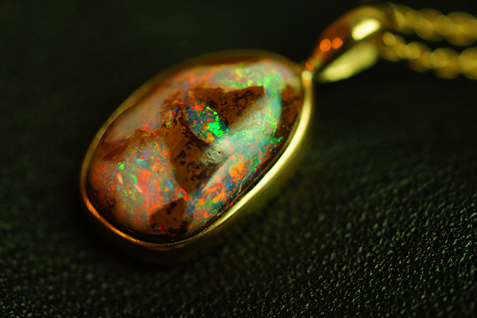 earth art black opal NATURAL KOROIT OPAL